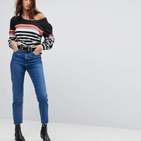 Free People Complete Me Alpaca Blend Stripe Sweater at asos.com