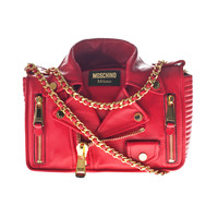 Moschino Biker Jacket Tote Red Leather bag in jacket design - What's new