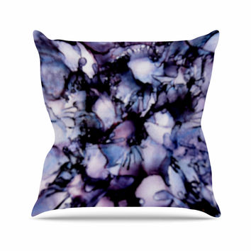 "Claire Day ""Violet"" Blue Purple Outdoor Throw Pillow"