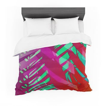 "Alison Coxon ""Hot Tropical"" Pink Red Featherweight Duvet Cover"