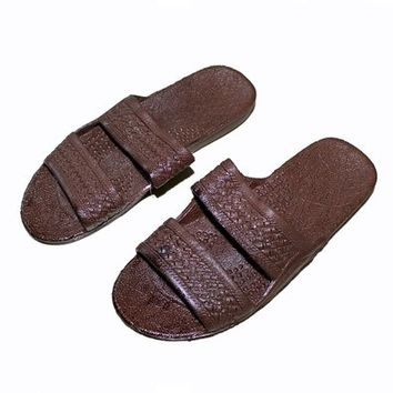 Indigo Brown Rubber Double Strap Surfware Hawaiian Classics Sandals