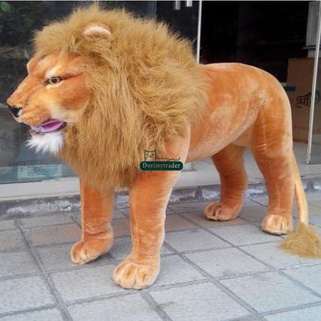 Lion Realistic Giant Stuffed Animal Plush Toy 50""