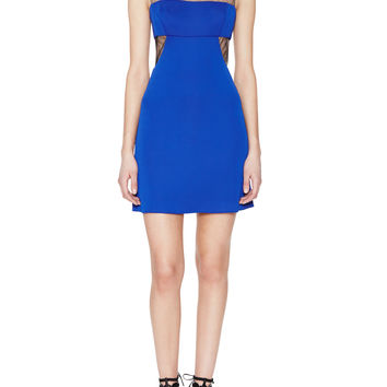 BCBGMAXAZRIA Women's Waverly Mesh Cut-Out Cocktail Dress - Blue -