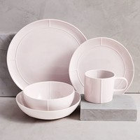 Seam Dinnerware (Set of 4) - Pale Pink
