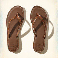 Girls Vegan Leather Icon Flip Flop | Girls Shoes & Accessories | HollisterCo.com