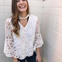Stars And Lace Top