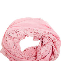 MIXED LACE INFINITY SCARF ORCHID