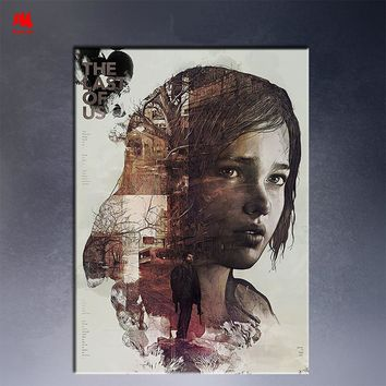 The Last of Us Canvas Painting Vintage Poster Print Zombie Survival Horror Action TV Game Pictures leaf Home Decor Wall Art