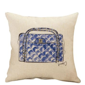 Chanel Bag Throw Pillow Cover