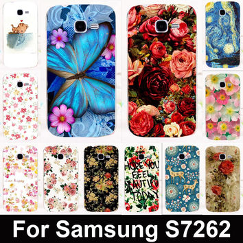 Hot sale Butterfly&Flower mobile phone case protective case hard Back cover for Samsung Galaxy Star Pro S7260 S7262 s7278 i679