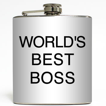 World's Best Boss - Funny Flask