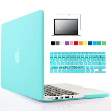 Rubberized Crystal/Matte Hard Case Cover For Macbook Pro retina 13 (A1425) inch sleeve with keyboard cover maletin para portatil