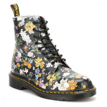 Dr Martens Womens Black Darcy Floral Backhand Pascal Boots