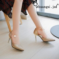 Sexy Shoes Women high 9CM 2017 Summer New  High-heeled Fashion Shallow Mouth Female Shoes Normal Size 34-40 Chaussure Femme