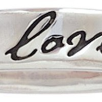 Bob Siemon Sterling Silver True Love Waits Concaved Script Ring