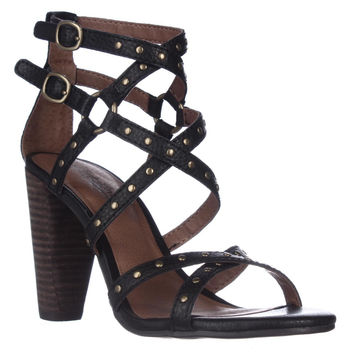 Lucky Brand Orandi Strappy Stacked Heel Sandals, Java, 8 US