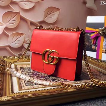 GUCCI WOMEN'S GG MARMONT LEATHER CHAIN SHOULDER BAG