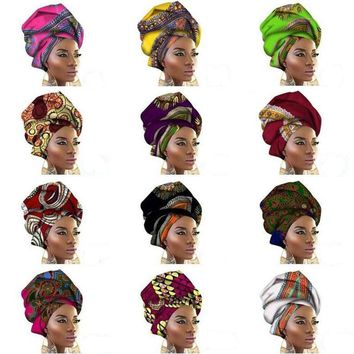 African Wax Print Ankara Head Wrap Scarf Head Tie Cotton Turban