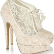 Charlotte Olympia|Minerva lace and satin ankle boots|NET-A-PORTER.COM