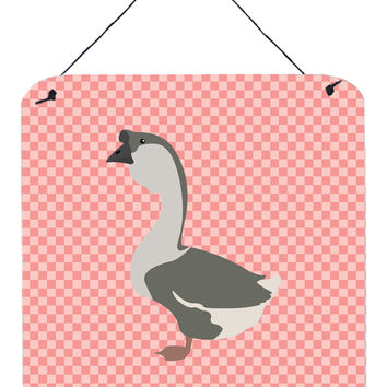 African Goose Pink Check Wall or Door Hanging Prints BB7899DS66