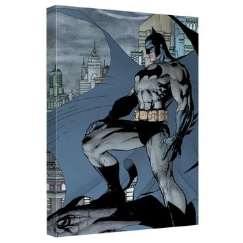 Batman - City Watch Canvas Wall Art With Back Board