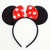 Minnie Mouse Ears Mouse Ears Bow Halloween Costume Red Mickey Ears Headband Red Minnie Ears Red Minnie Mouse Bow Red Minnie Mouse Outfit