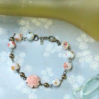 peach garden indie bracelet - $30.99 : ShopRuche.com, Vintage Inspired Clothing, Affordable Clothes, Eco friendly Fashion