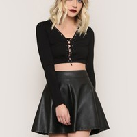 Lace Me Up Crop Top - Tops - Clothes at Gypsy Warrior
