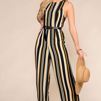 In The Present Striped Jumpsuit