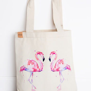 Sweet Summer Tote - Flamingo