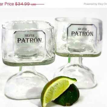 SALE Today Only Small Patron Tequila Bottle Margarita Drinking Glass 375ml