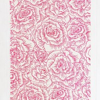 Plum & Bow Inked Rose Handmade Rug - Urban Outfitters