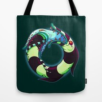 Sand Jormungand Tote Bag by Artistic Dyslexia | Society6