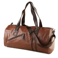Jet Leather Duffle Bag