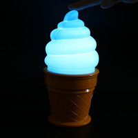 Novelty Ice Cream Lamp Led Lamp attractive Night Light for Children kids Cone Shaped Desk Table LED Lamp Bedroom Decor Lights
