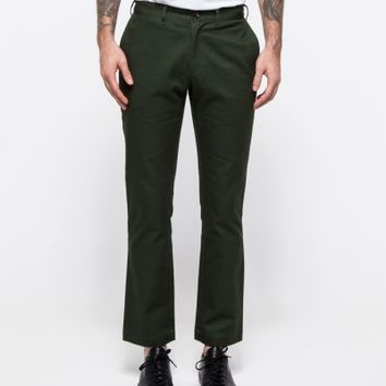 General Assembly Green Washed Twill Pant