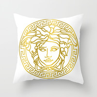 Versace Throw Pillow by Goldflakes
