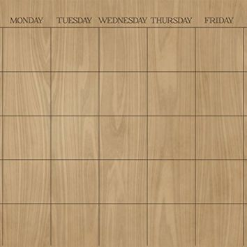 WallPops Hardwood Monthly Calendar Wall Decal - Set of 2