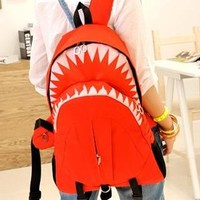 Beautiful Red shark backpack