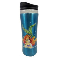 disney parks little mermaid ariel stainless travel tumbler cup mug new