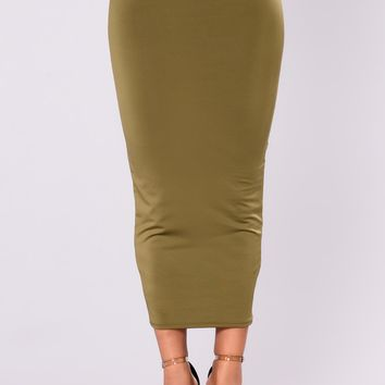 Olive Oil II Skirt - Olive