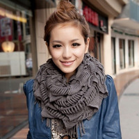 Fashion Women Winter Warm Tassel Knitting Scarf Keep Warm = 1958218436