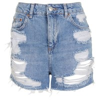 MOTO High Waisted Rip Mom Short