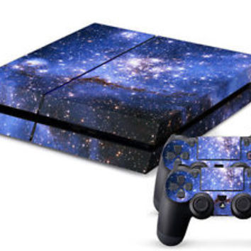 DEEP SPACE Skin for Playstation PS4 Console + 2 Controller Stickers