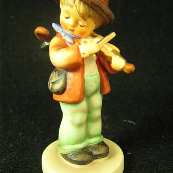 "Vintage German Hummel Goebel Figurine ""LITTLE FIDDLER"" #2 4/0 TMK6 mib"