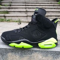 Air Jordan 6 Oregon Ducks PE Black Green - Best Deal Online
