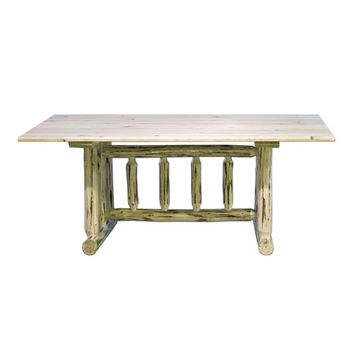 Montana Woodworks    MWDT Montana Unfinished Dining Table Trestle Based