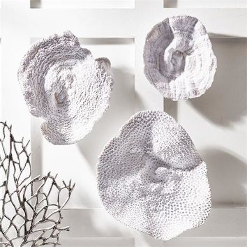Velvet Coral Wall Decor | Set of 3