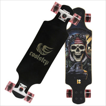 Professional Skate Board Canadian Maple Longboard Dancing Flamingo Skateboard Slide Fast 70MM PU Wheels Durable Deck 78*21cm