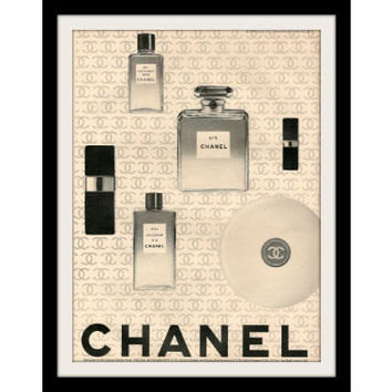 1966 CHANEL No. 5 Perfume & Cologne Ad Vintage Advertisement Print